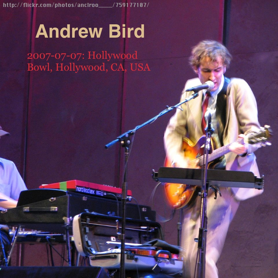 Andrew Bird - 20070707 - cover